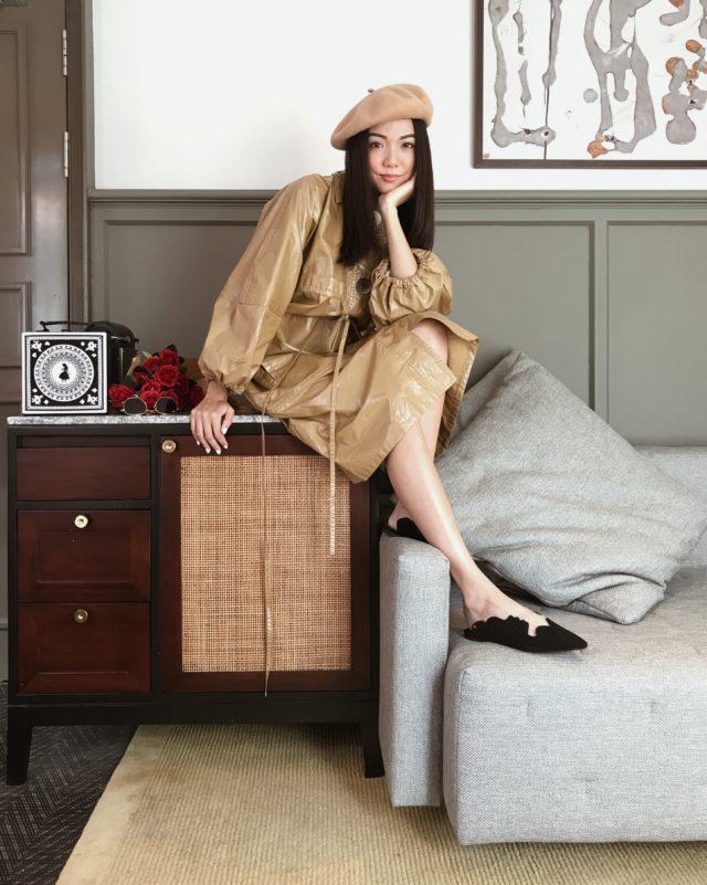 yoyo cao wearing charles and keith