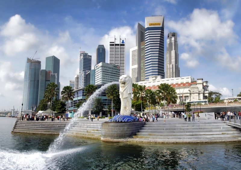Merlion Park located in the Central Business District