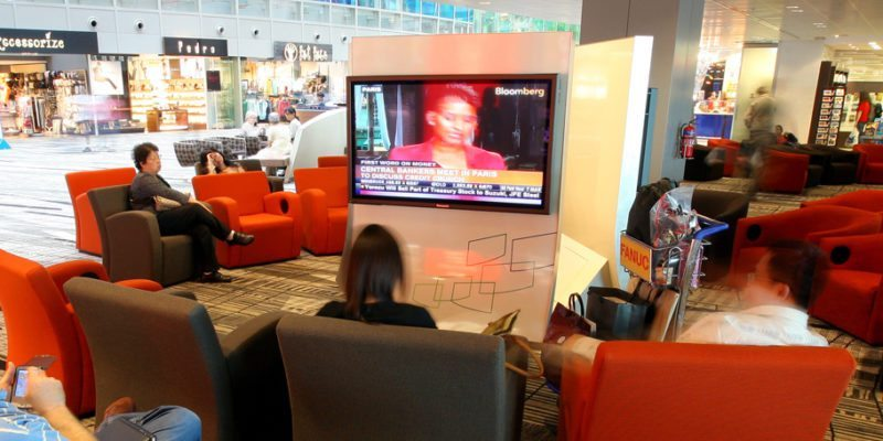 TV Lounges at Changi Airport