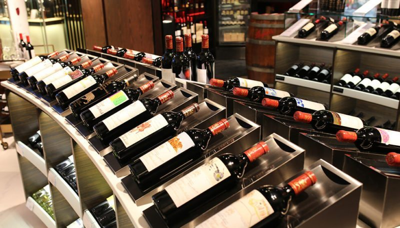Wine collection available at DFS Singapore, Changi Airport