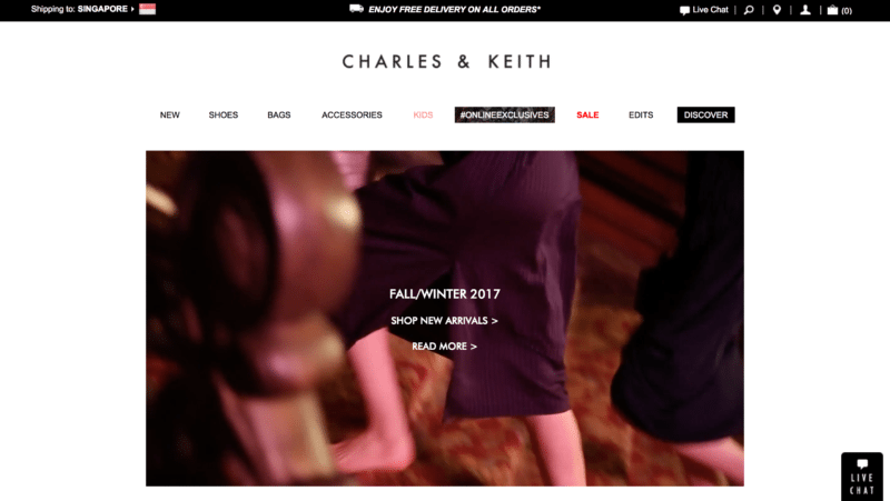 Charles & Keith online store
