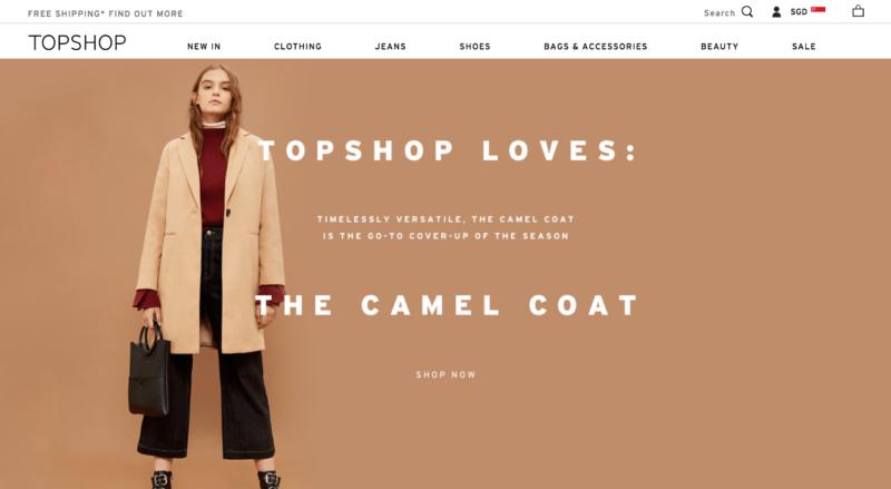 Topshop online store