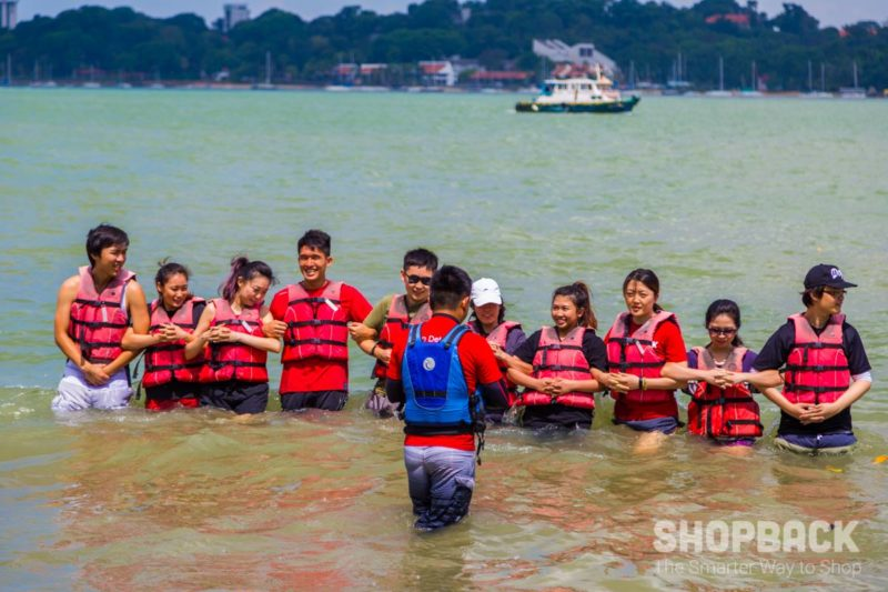 ShopBack teambonding at pulau ubin kayaking