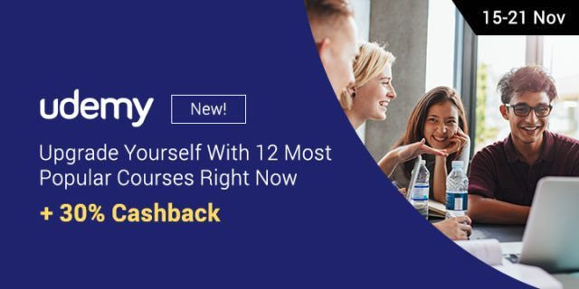 Udemy cashback on ShopBack