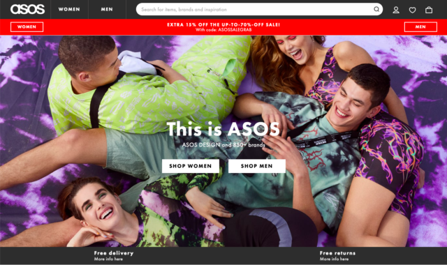 this is ASOS homepage