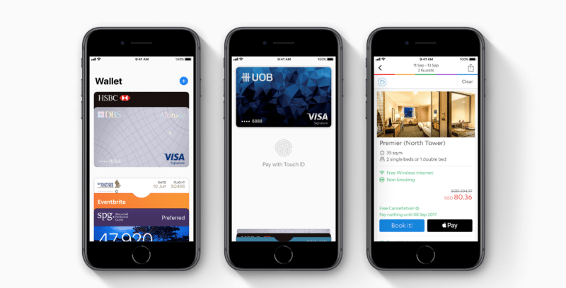 Screen pages of the Apple Pay app