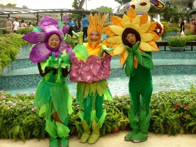 Flower Mascots From The Teletubbies
