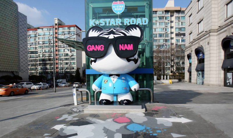 Gangnam-dol, a bear looking like PSY at K-Star Road