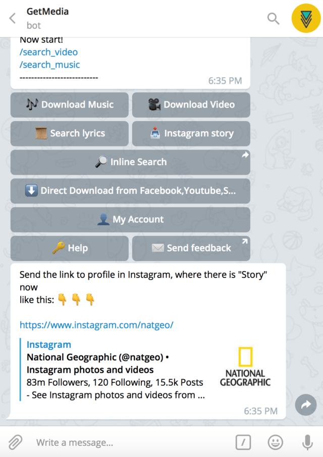 GetMedia Bot Telegram