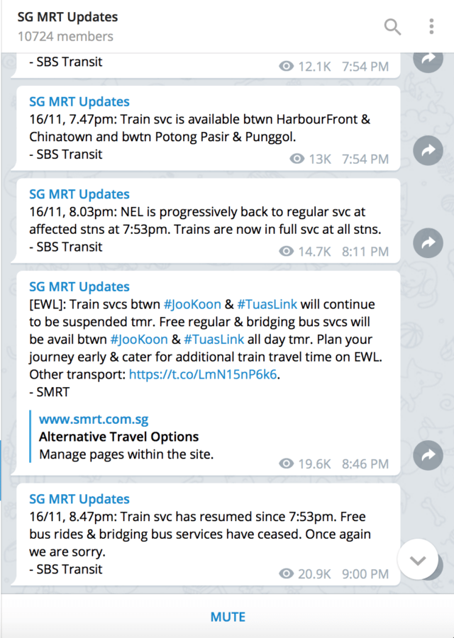 SG MRT Updates Telegram Channel