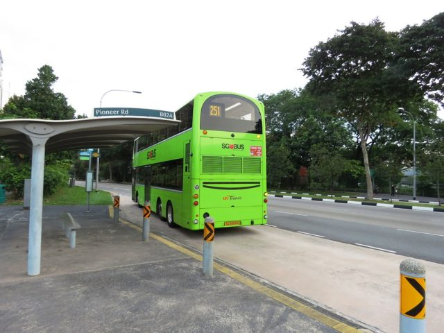 Government Bus Singapore Bus Stop Bus