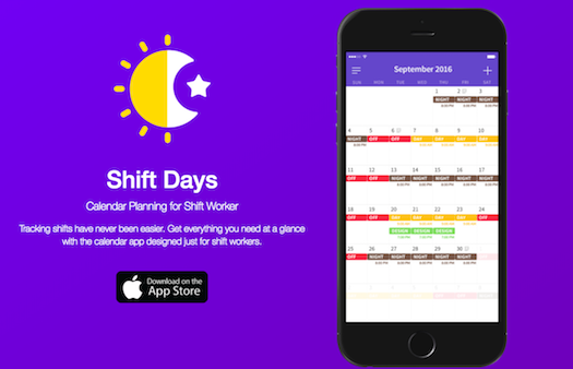 Time Management App Shift Days