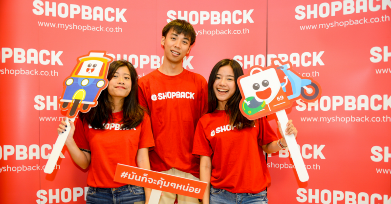 Shopback Thailand team members at event