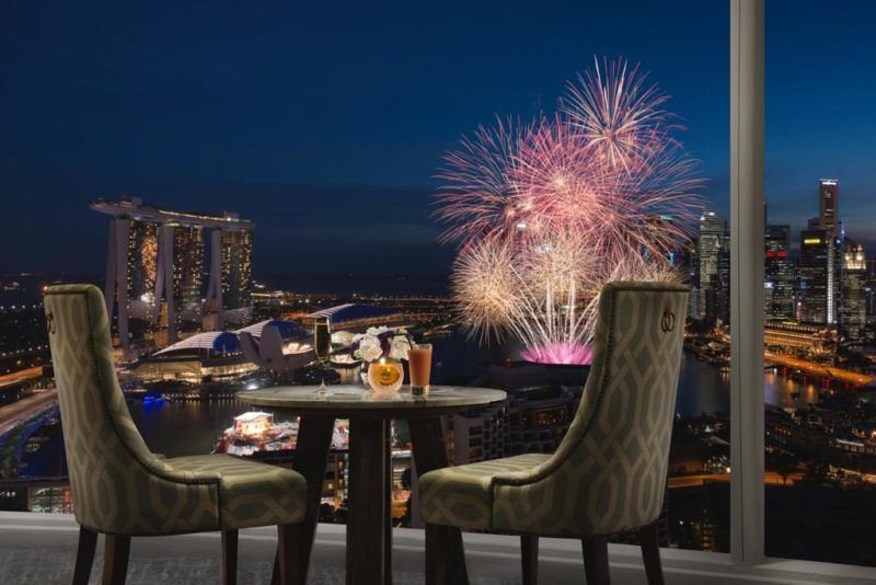 View the New Years' firework from Pan Pacific Singapore hotel
