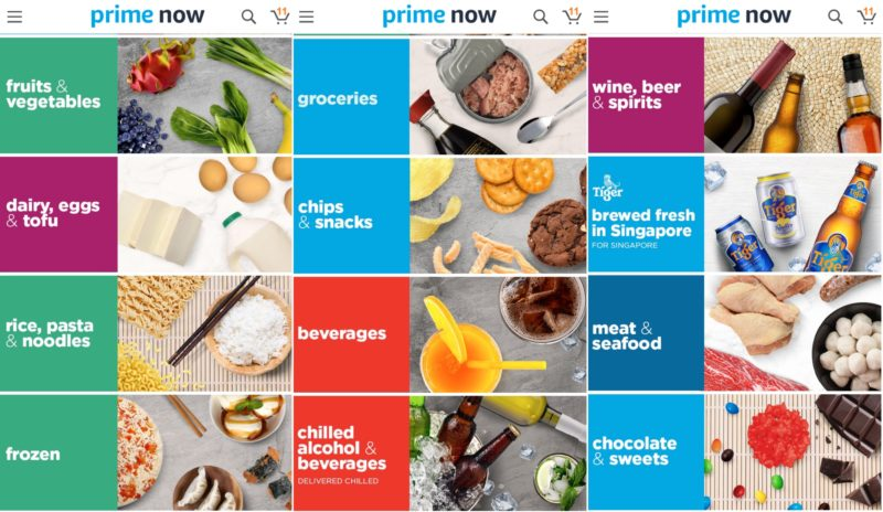 Prime Now Singapore for online groceries