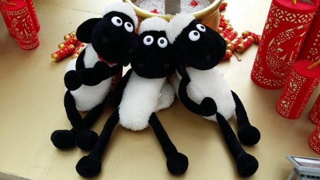 Sheep celebrating Chinese New Year