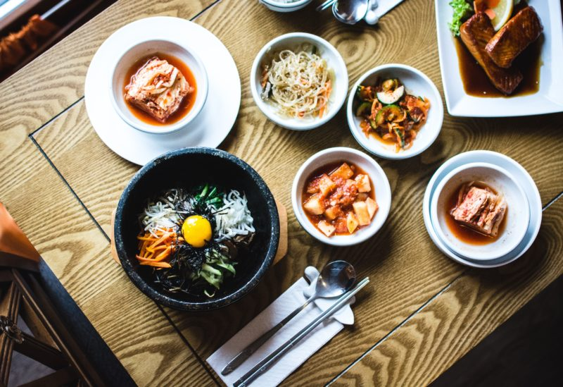 Table full of delicious korean food in singapore