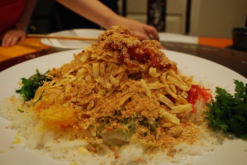 Chinese New Year, Yusheng, Singapore, tradition