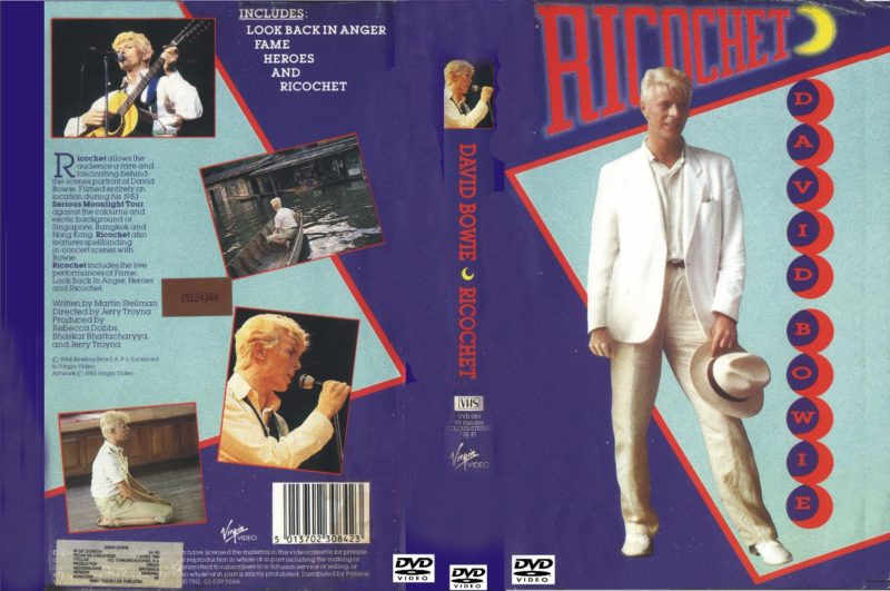 Poster from Ricochet documentary with David Bowie