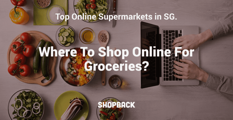 shopping groceries online on a laptop