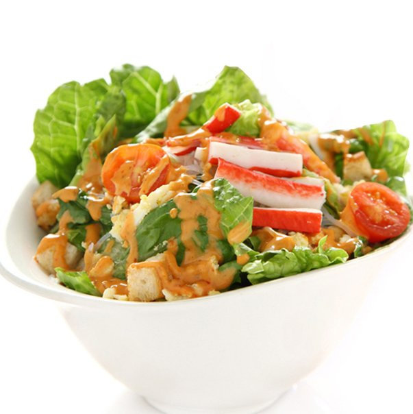 A generous bowl of healthy salad from salad Stop