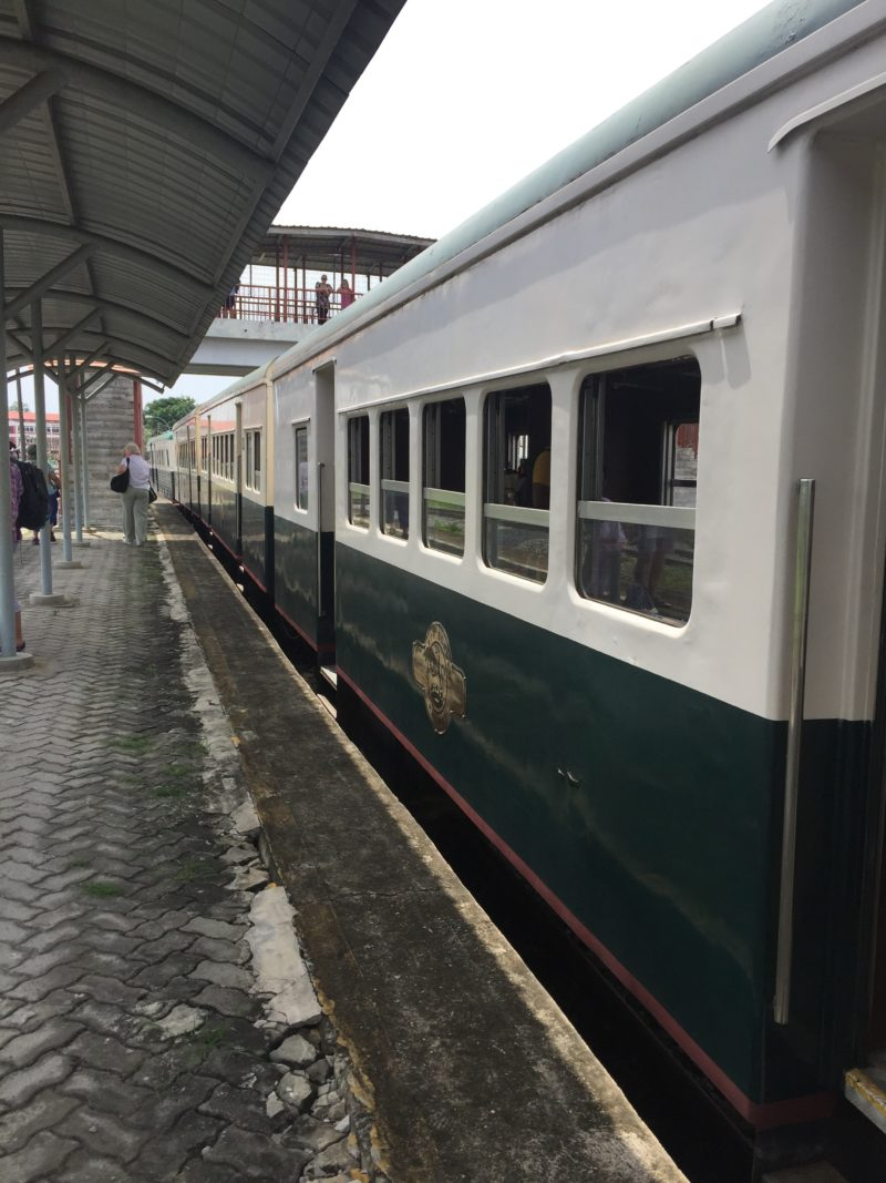 Colonial style carriages North Borneo Railway