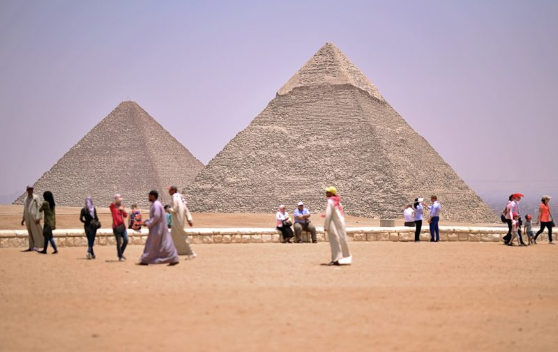 The GIza pyramdis in Egypt