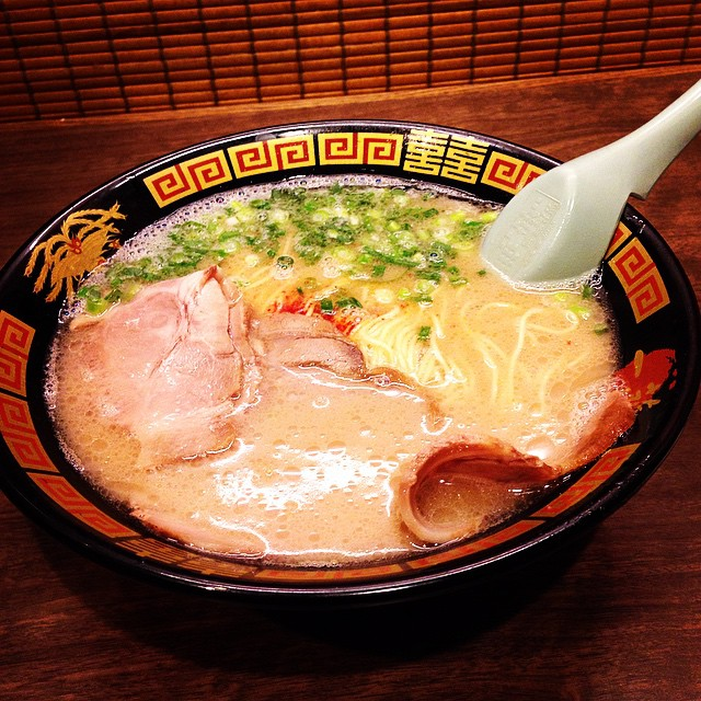 Delicious and hot ramen bowl in Ichiran Ramen in Tokyo