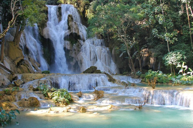 Fantastic waterfalls in Luang Prabang, Laos