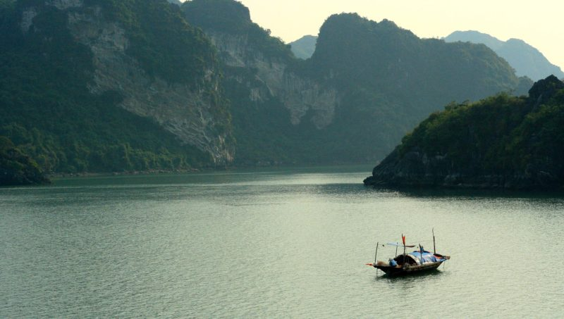 Boat in Halong Bay in Vietnam
