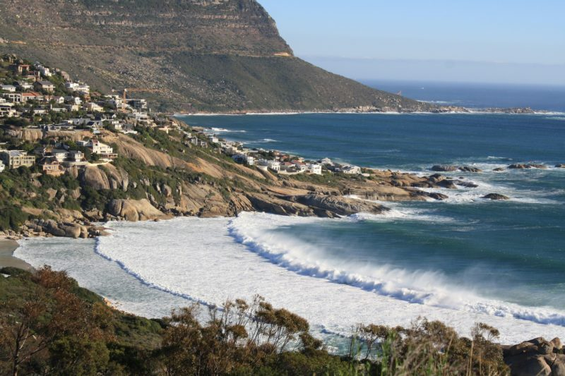Waves at the shore of Cape Town, South Africa