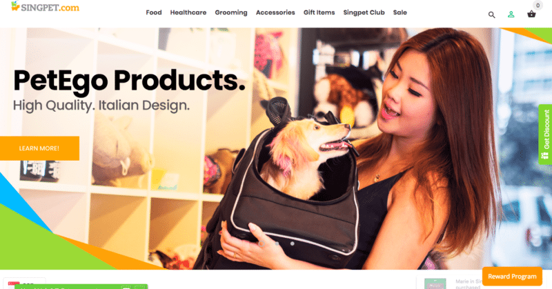 Singpet online pet store in Singapore