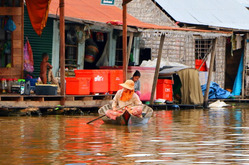 Floating villages in Tonle Sap Cambodia
