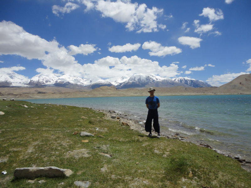 The beautiful view of Lake Karakul in Kashgar