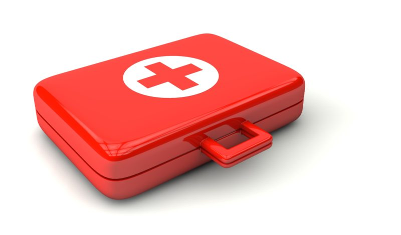 Red medical kit
