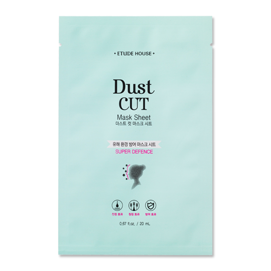 face mask sheet from Etude House Dust Cut for super Defence