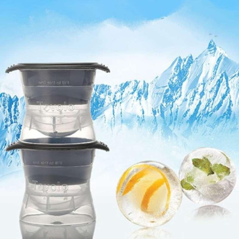 Silicone and plastic ice ball makers