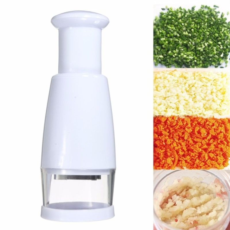 Hand press chopper for vegetables and meat