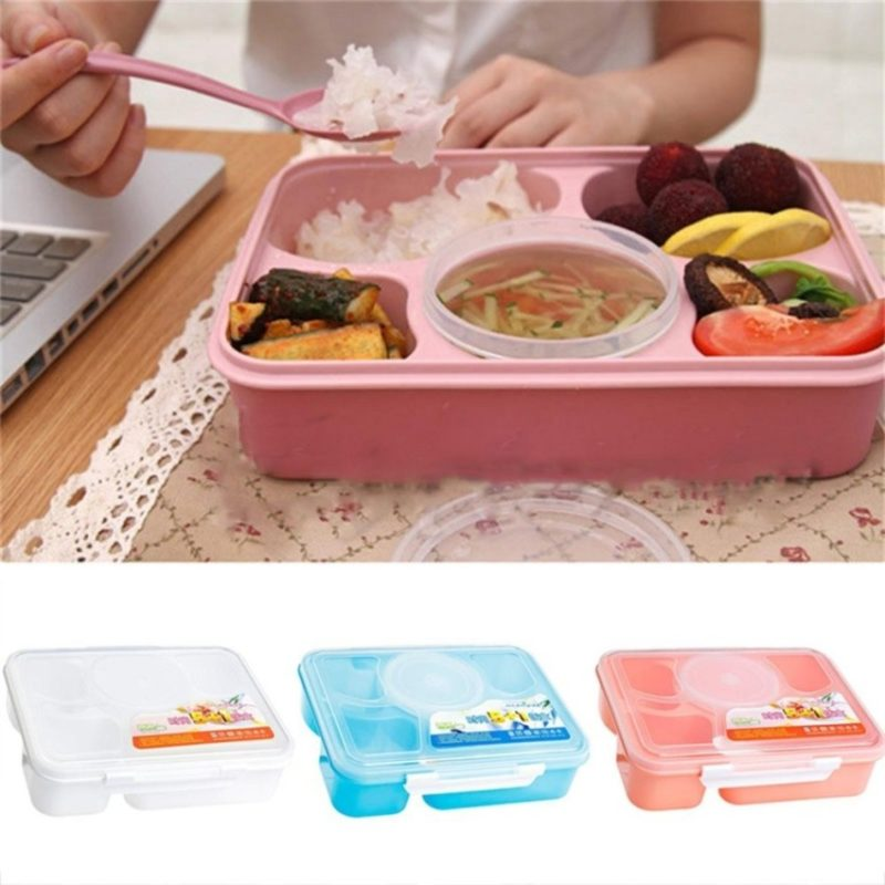 Microwavable bento lunch boxes
