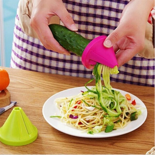 Cone shaped vegetable slicer and grater