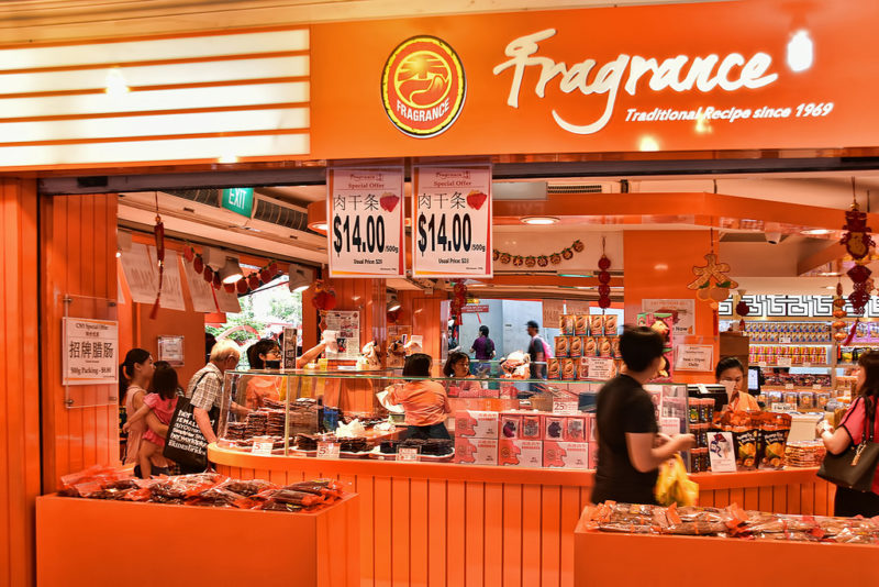 fragrance storefront, one of the most trusted bak kwa of singapore