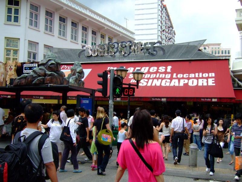 Bugis street market entrance