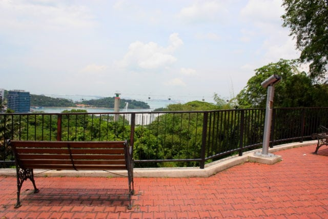 bench at mount faber