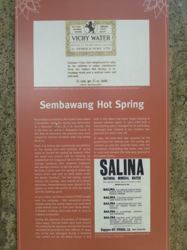 sembawang hot spring notice