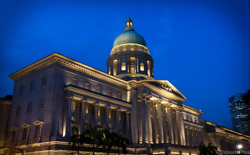 Even though the old City Hall building is now the National Gallery Singapore, it still does not lose any of its glamour when taking a shot at blue hour. Just beautiful.