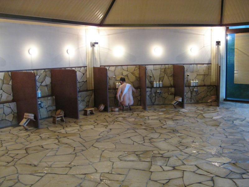 Shower Cubicles in an onsen