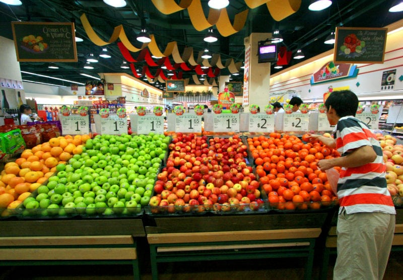 Fruits at grocery mart in Jurong Point