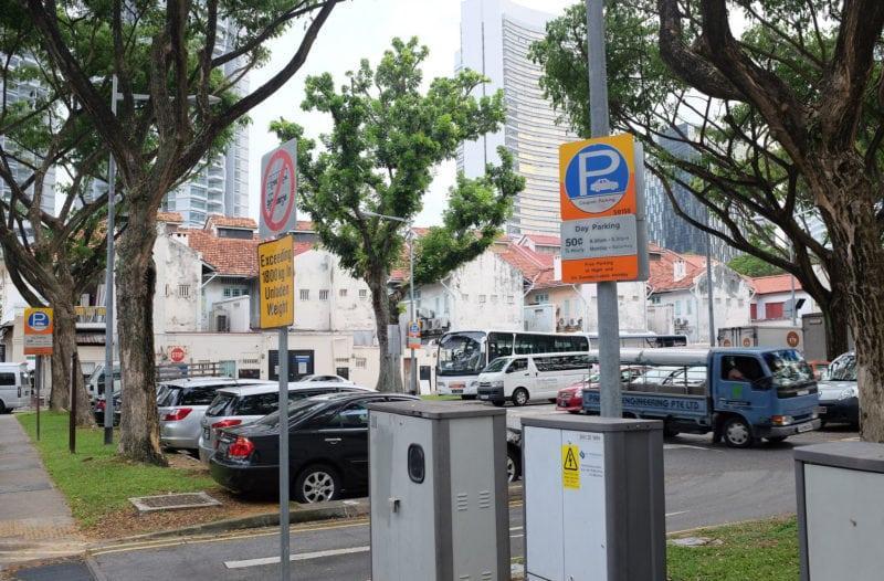 Public parking spaces in Singapore
