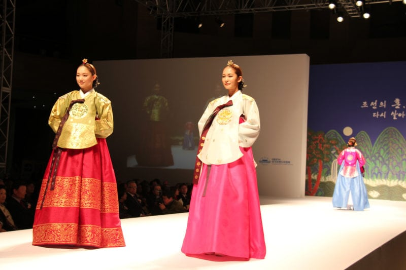 Hanbok, Traditinal Korea dress during a reenactment of a royal wedding