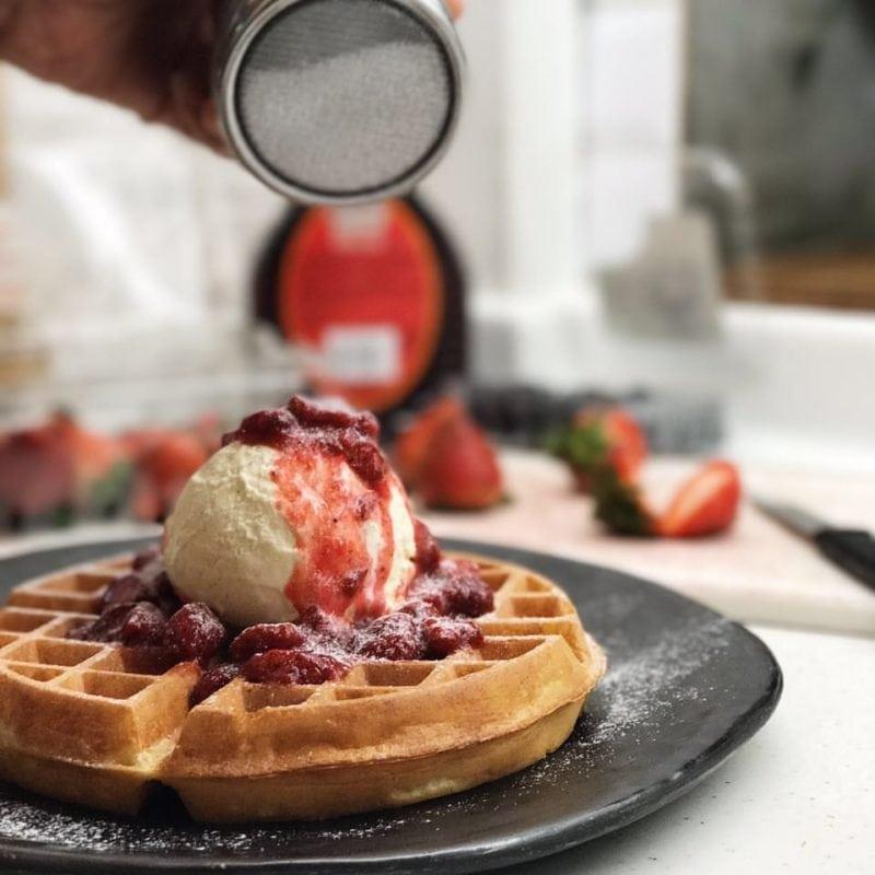 Waffle -Strangers' Reunion dessert